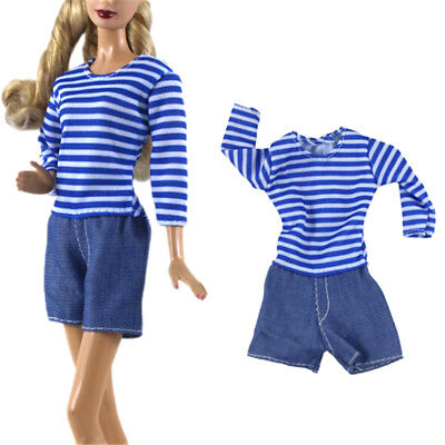 Fashion Handmade Doll Clothes Suit for Barbie Doll Party Daily Clothes Gift JR