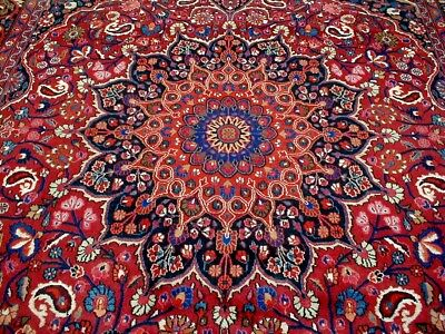 9X12 1940's ONE IN A MILLION MINT HAND KNOTTED ANTIQUE 200+KPSI MOOD PERSIAN RUG