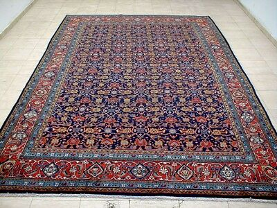 8X11 1940's BREATHTAKING FINE HAND KNOTTED ANTQ 70+YRS SAROUK MAHAL PERSIAN RUG