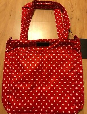 NWT JU JU BE BLACK RUBY Be Light Tote Bag Baby Diaper Red White Dots Baby Mom