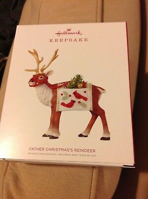 2018 Hallmark LIMITED EDITION Father Christmas Reindeer NIB hard to get!!! NR