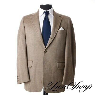 Vintage TRAD CLASSIC J. Press Sand Mocha Herringbone Tweed 3 Roll 2 IVY Jacket