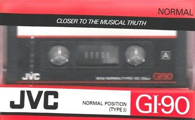 Jvc Gi-90 Normal Position Type I Blank Audio Cassette - 1988