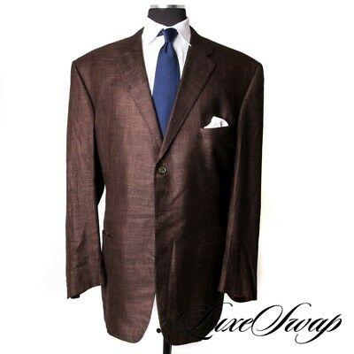 BIG GUYS Custom Made Adrian Jules Anthony Davis Cashmere Feel Brown Jacket NR