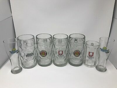 Authentic Spaten & Paulaner Beer Mug Lot (Munich)