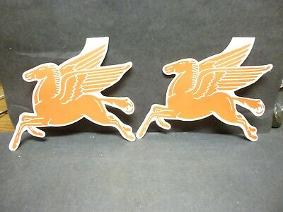 """Pair of Vintage Mobil Oil's Red Horse """"Pegasus"""" Logo's, """"Red Horse Round-Up""""."""