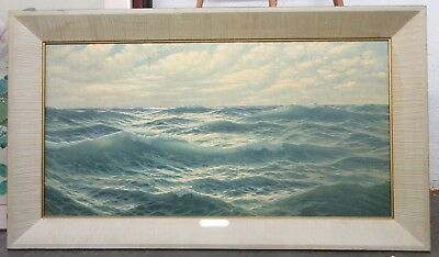 Vintage Mid Century Lithograph Boundless Sea Signed Welters *Local Pickup Only*