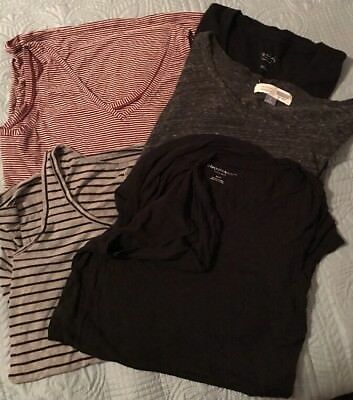 USED Lot of 5 Mixed Maternity Tees T-shirts size M - Short & Sleeveless Top