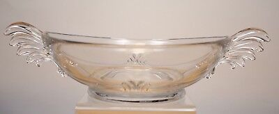 Vintage Depression Glass Fostoria Baroque Winged Console Bowl Centerpiece M1