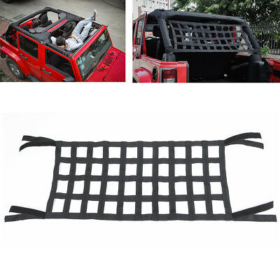 Heavy Duty Car Top Roof Hammocks Bed Cargo Net Cover For Jeep Wrangler JK 07-18