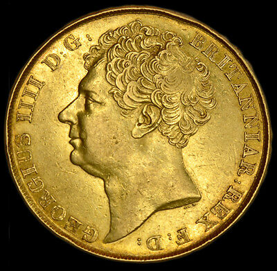 King George The Iv 1823 Gold £2 Sovereign...