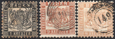 Old Germany Baden used (4196