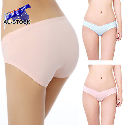Pregnant Women Maternity Cotton U Shape Low Rise Underwear Briefs Novel Panties