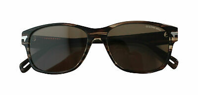 G- Star Raw Thin Huxley Stripe Brown Acetate Men UV Shades Sunglasses GS605S 201