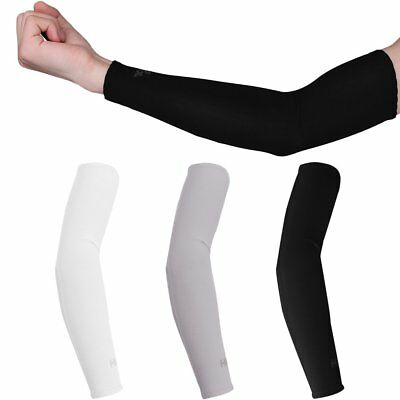 1 Pair UV Protection Cooler Arm Sleeves for Running Bike Hiking Golf Tennis Fish