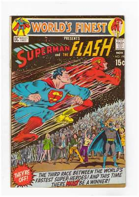 Worlds Finest Comics # 198 Superman and The Flash ! grade 7.5 scarce book !!