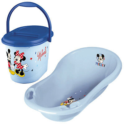 Keeeper 2-teiliges Badeset MICKEY MOUSE Badewanne mit Windeleimer light blue NEU