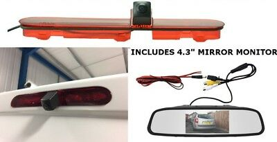 Citroen Dispatch Jumpy Reverse Reversing Brake Light Camera Kit & Mirror Monitor