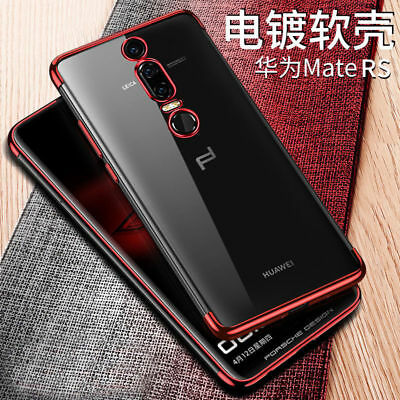 For Huawei Mate RS Electroplate Shockproof Clear Soft TPU Hybrid Slim Cover Case