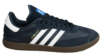 Adidas Originals Samba Advance Mens Trainers Navy Blue Leather Suede BY3930 D114
