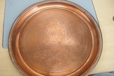 arts and crafts copper plate/tray