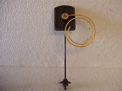 "Used 2 7/8"" Brass Side Mount 2 Coil Clock Gong with 8"" Stand parts repair V"