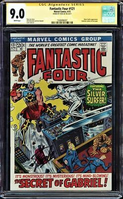 Fantastic Four #121 Cgc 9.0 White Ss Stan Lee Signed Silver Surfer #1508496007