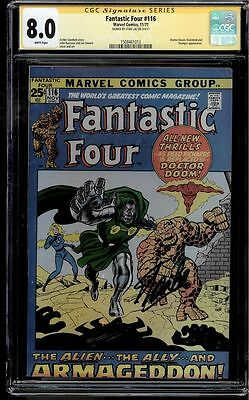 Fantastic Four #116 Cgc 8.0 White Ss Stan Lee Doctor Doom Cover  #1508461013