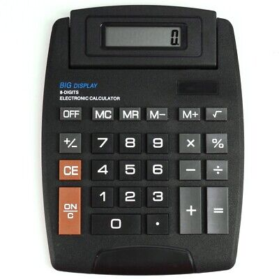 GIANT DISPLAY CALCULATOR Battery 8 Digit Screen Desktop Large Button EASY PRESS