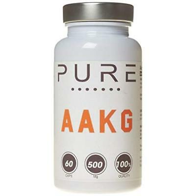 Bodybuilding Warehouse 500mg Pure Arginine Alpha Ketoglutarate (AAKG) 60 Capsule