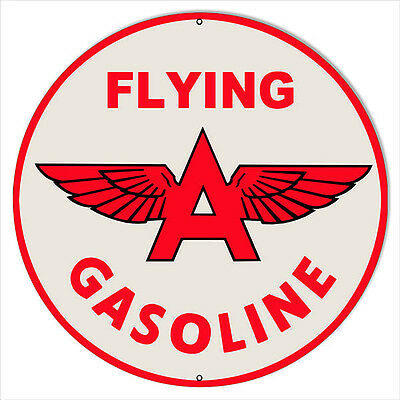 Large Flying A Gasoline Motor Oil Sign 18 Round