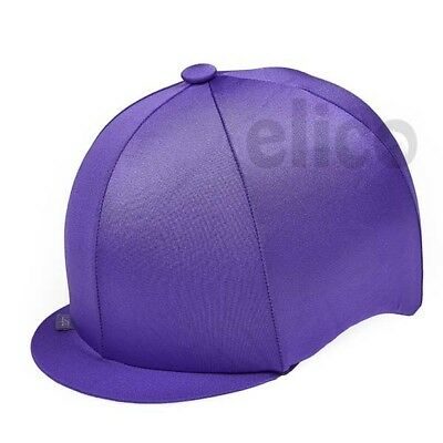 Purple Capz Riding Hat Silk Cover For Jockey Skull Caps One Size