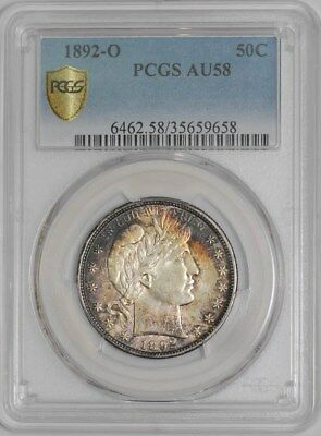 1892-O Barber Half 50c #938731-4 AU58 Secure Plus PCGS