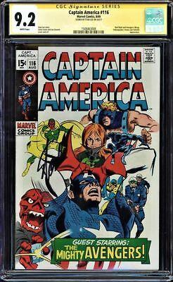 Captain America #116 Cgc 9.2 White Ss Stan Lee Signed Cgc #1508463008