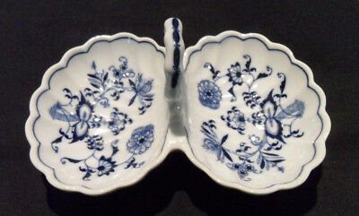 Blue Danube Divided Relish Bowl with Handle