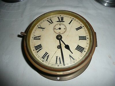 Smiths Bulkhead Clock, Empire Movement, Good Used Condition & Working Order