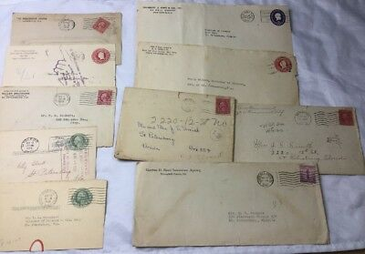 Lot of Vintage Assorted Used United States Postal Envelopes With Old Stamps #5