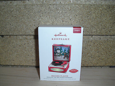 2018 Hallmark Ornament Record Player Rudolph the Red Nose Reindeer NIB!!