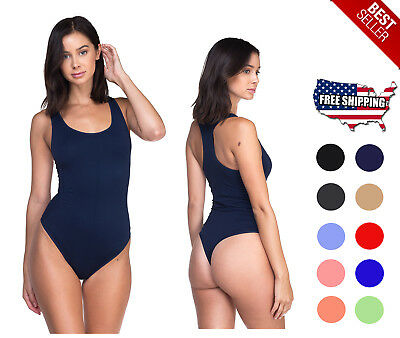 Women's Seamless Leotard Bodysuit Skin-Fit One Piece