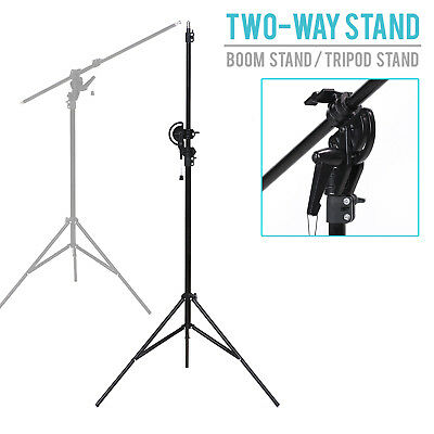 Lusana Studio 10' Photography Photo Video Adjustable Two-Way Boom Stand Tripod