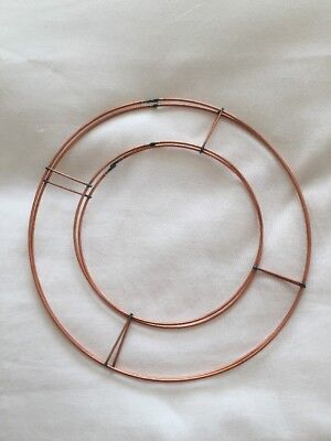 """2 X 8"""" Oasis Flat Wire Wreath Rings Frames Copper Wire Ring Xmas Holly Wreaths"""