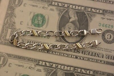 """Tiffany & Co. Sterling Silver And 18k Yellow Gold Curb Link Bracelet, 7.5"""", 11g"""