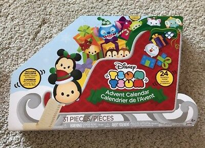New In Box Disney Tsum Tsum Advent Calendar 2017 31 Pieces