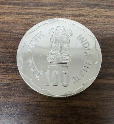 India 1980 F.A.O. 100 Rupees Silver Proof Coin