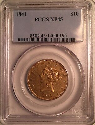 1841 Gold $10 Eagle PCGS XF45