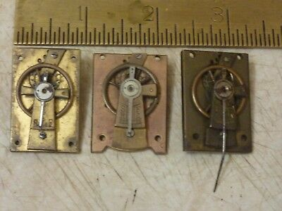3 Antique  Clock Platforms - Spares - Repair (Pp)