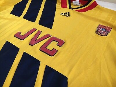 59f3e2528bf 1993-94 ARSENAL AWAY Shirt 30-32 XXS XS Adidas Equipment JVC Trikot ...
