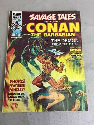 SAVAGE TALES #3 Marvel Comics Magazine STERANKO WILLIAMSON SMITH BRUNNER 1974