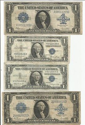 1923 Large $1 Silver Certificates Lot