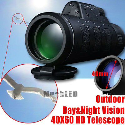 40x60 HD Optical Day Night Vision Monocular Hunting Camping Hiking Telescope US